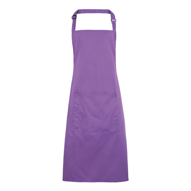 Colours Bib Apron With Pocket In Rich Violet
