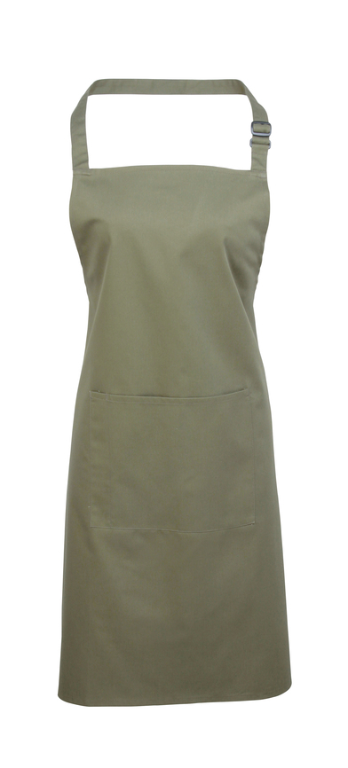 Colours Bib Apron With Pocket In Sage