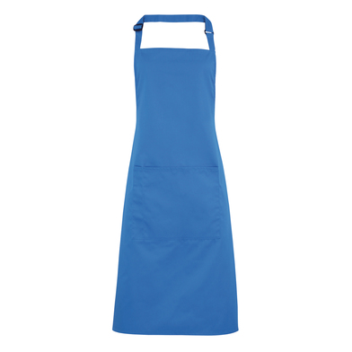 Colours Bib Apron With Pocket In Sapphire
