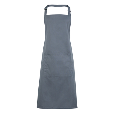 Colours Bib Apron With Pocket In Steel