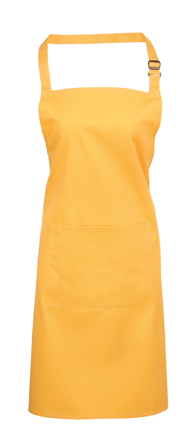 Colours Bib Apron With Pocket In Sunflower
