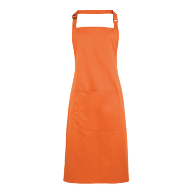 Colours Bib Apron With Pocket In Terracotta