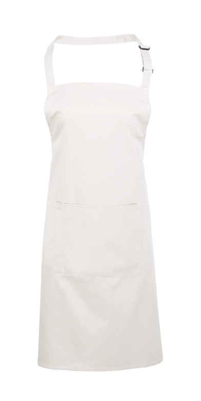 Colours Bib Apron With Pocket In White