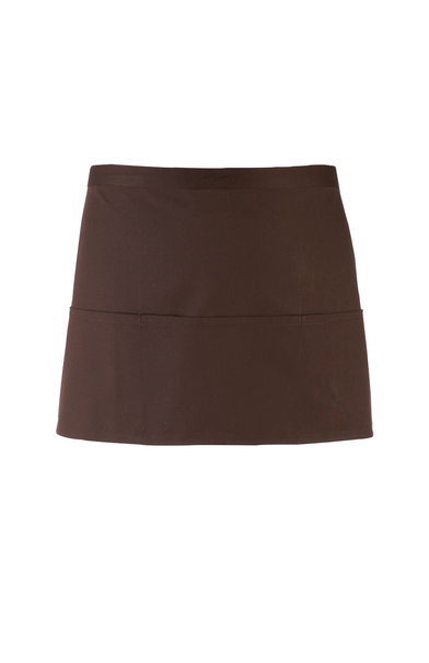 Colours 3-pocket Apron In Brown
