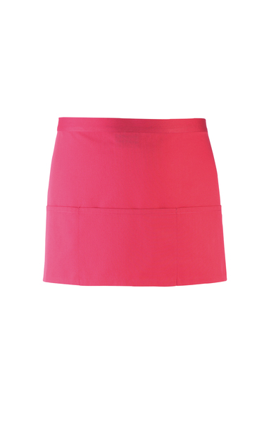 Colours 3-pocket Apron In Hot Pink