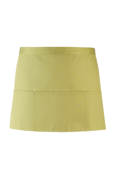 Colours 3-pocket Apron In Lime