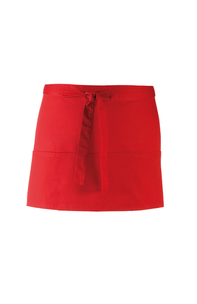 Colours 3-pocket Apron In Red