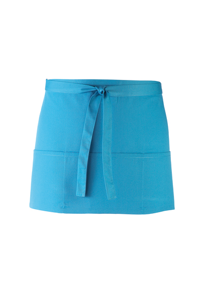 Colours 3-pocket Apron In Turquoise