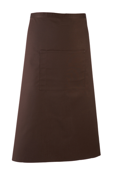 Colours Bar Apron In Brown