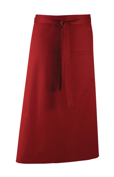 Colours Bar Apron In Burgundy
