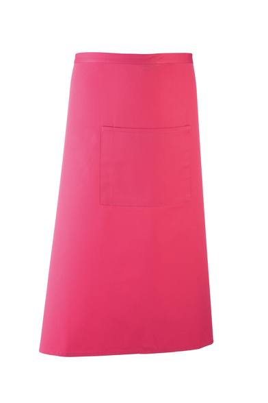 Colours Bar Apron In Hot Pink