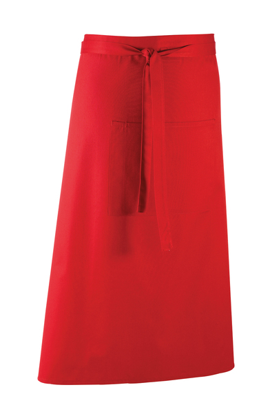 Colours Bar Apron In Red