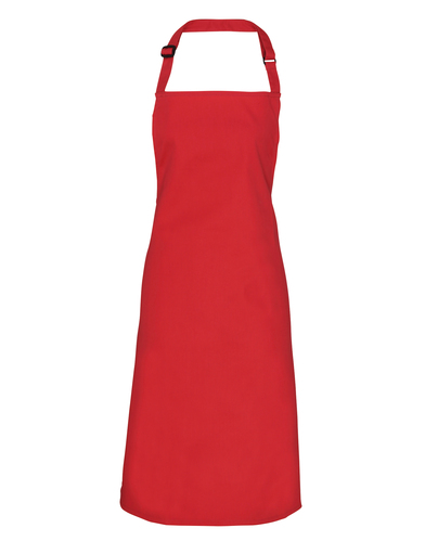 100% Polyester Bib Apron In Red