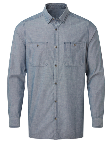 Premier - Mens Chambray Shirt, Organic And Fairtrade Certified
