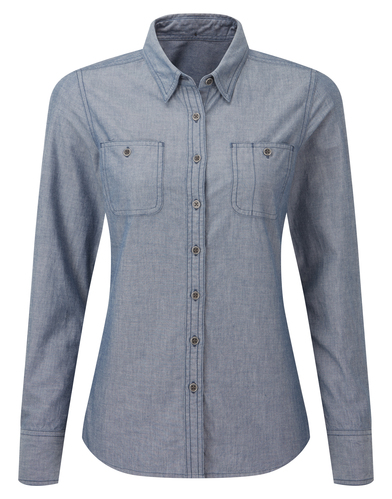 Premier - Womens Chambray Shirt, Organic And Fairtrade Certified