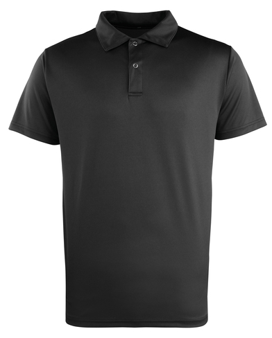 Coolchecker Studded Polo In Black