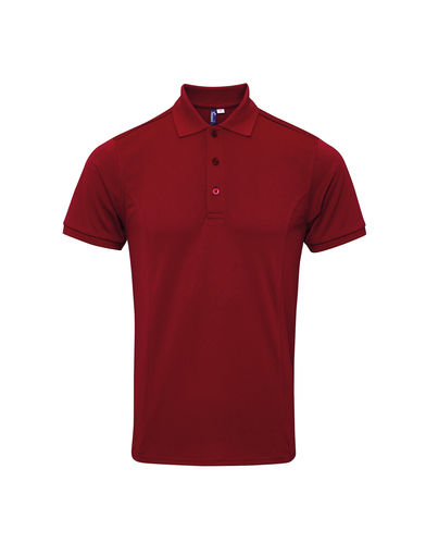 Coolchecker Plus Piqu Polo With CoolPlus In Burgundy