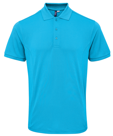 Coolchecker Plus Piqu Polo With CoolPlus In Turquoise