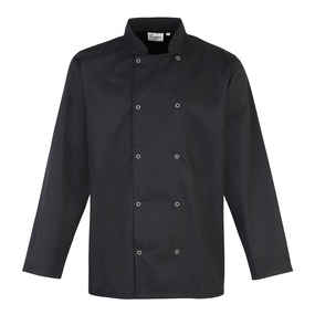 Studded Front Long Sleeve Chef's Jacket
