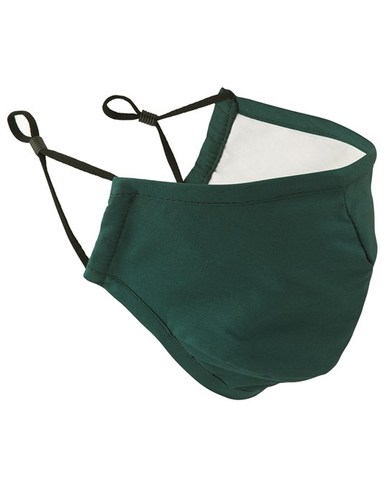 3-layer Fabric Mask (AFNOR Certified) In Bottle Green