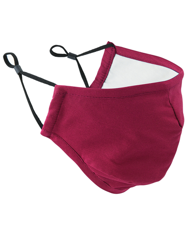 3-layer Fabric Mask (AFNOR Certified) In Burgundy