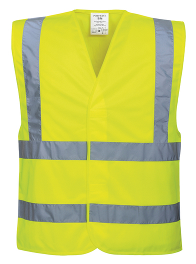 Hi-vis Two-band-and-brace Vest (C470) In Yellow