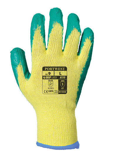 Fortis Grip Glove (A150) In Yellow/Green