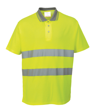 Cotton Comfort Polo Shirt (S171) In Yellow