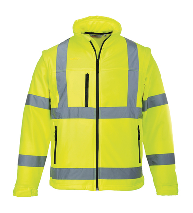 Hi-vis Softshell Jacket (3L) (S428) In Yellow