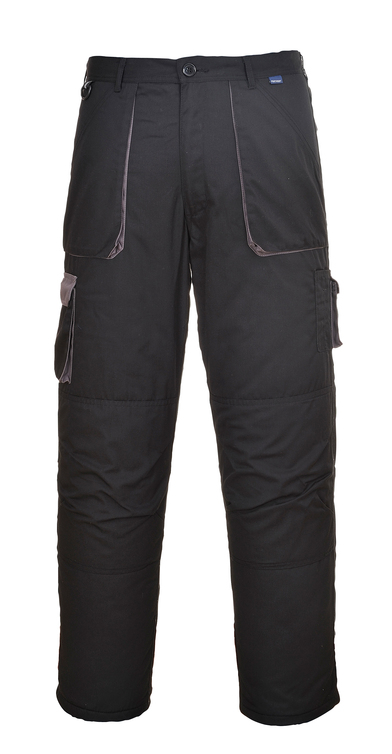 Contrast Trousers (TX11) In Black/Grey