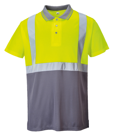 Hi-vis Two-tone Polo Shirt (S479) In Yellow/Grey