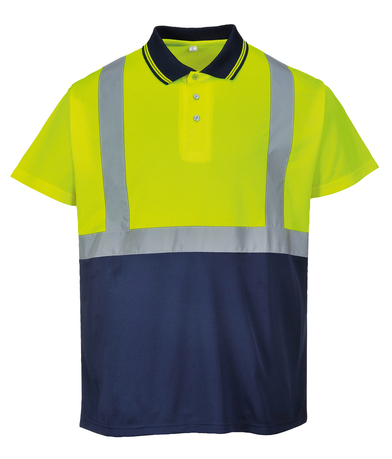 Hi-vis Two-tone Polo Shirt (S479) In Yellow/Navy
