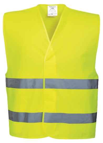 Hi-vis Two-band Vest (C474) In Yellow