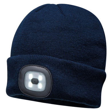 Beanie LED Headlight USB Rechargeable (B029) In Navy