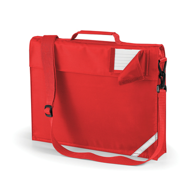 Junior Book Bag With Strap In Bright Red