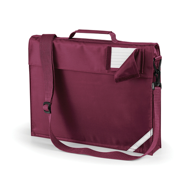 Junior Book Bag With Strap In Burgundy