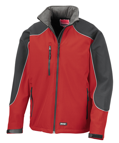 Hooded Softshell Jacket In Red/Black