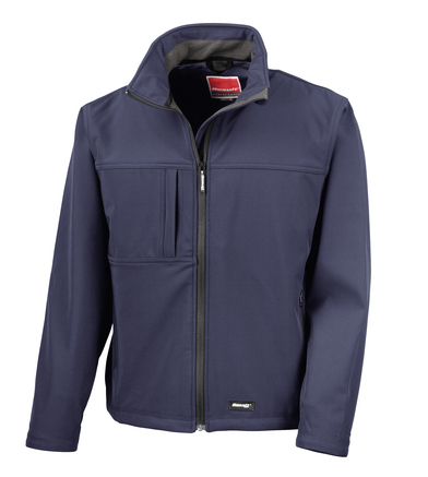 Classic Softshell Jacket In Navy