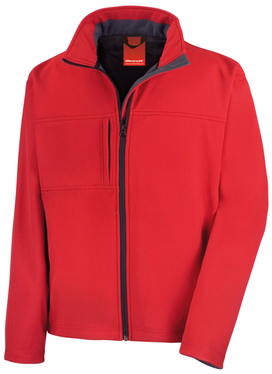 Classic Softshell Jacket In Red
