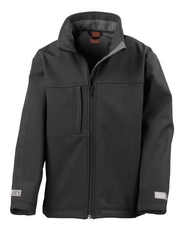 Junior Classic Softshell 3-layer Jacket In Black