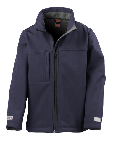 Junior Classic Softshell 3-layer Jacket In Navy