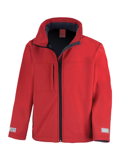 Junior Classic Softshell 3-layer Jacket In Red