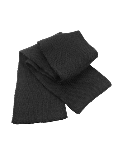 Classic Heavy Knit Scarf In Black