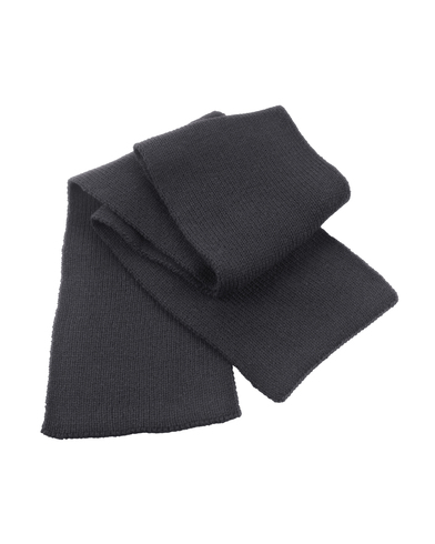 Classic Heavy Knit Scarf In Charcoal