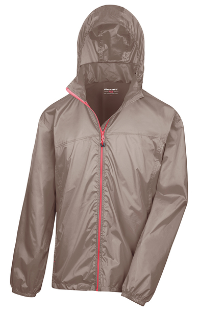 HDi Quest Lightweight Stowable Jacket In Fennel/Pink