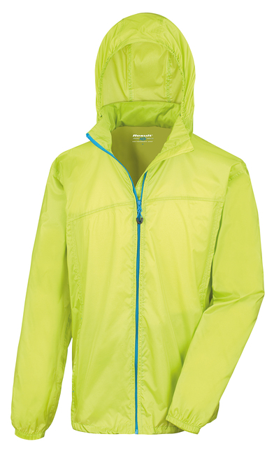 HDi Quest Lightweight Stowable Jacket In Lime/Royal