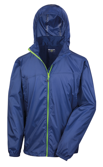 HDi Quest Lightweight Stowable Jacket In Navy/Lime