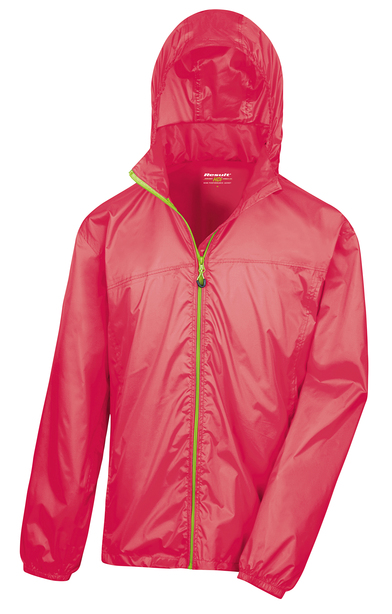 HDi Quest Lightweight Stowable Jacket In Raspberry/Lime