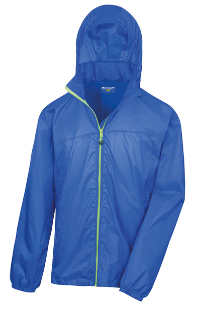 HDi Quest Lightweight Stowable Jacket In Royal/Lime