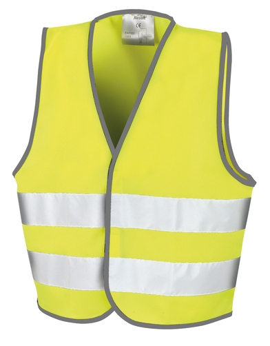 Core Junior Safety Vest In Fluorescent Yellow